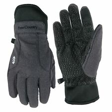 Free Country Men's Outdoor Softshell Gloves with Thinsulate - Charcoal