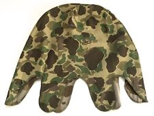 WWII US USMC MARINE P42 HBT FROG SKIN CAMO HELMET COVER-2ND PATTERN