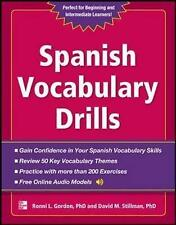 Spanish Vocabulary Drills (NTC Foreign Language), Good Condition Book, Stillman,