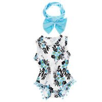 Newborn Baby Girls Summer Clothes Floral Romper Jumpsuit Bodysuit Outfits Set