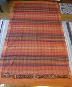 New India Twin Size Tapestry Cotton Bedspread Bohemian Hippie Orange/Coral