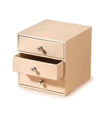 10 Cm Cajones Mini muebles de almacenamiento Joyero Plain Cartón Decorar Craft