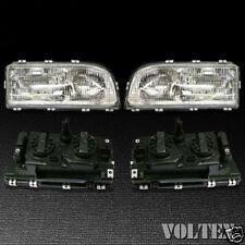 1993-1997 Volvo 850 Set of 2 Headlight Lamp Clear lens Halogen Pair