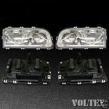 1993-1997 Volvo 850 Set of 2 Headlight Lamp Clear lens Halogen Pair