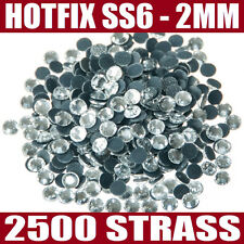2500 strass hotfix thermocollant / SS6 - 2MM / CRYSTAL