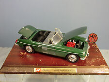 CORGI CLASSICS No.xxx  1963  M.G.B. ROADSTER WITH WOODEN PLINTH