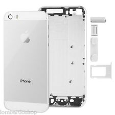 TELAIO SCOCCA POSTERIORE IPHONE 5S BIANCO BACK COVER MIDDLE FRAME SILVER VETRO