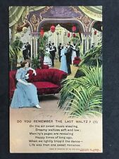Vintage Postcard - Bamforth Song Card #34 - Do You Remember The Last Waltz (1)