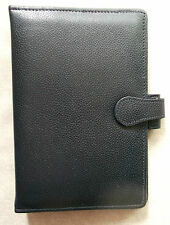 NEW STRAND LEATHER DARKEST NAVY STANDARD PERSONAL FILE ORGANISER 25mm DIAMETER