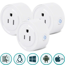 3 Pcs Sintron St-027 Smart Plug Socket for iPhone Siri Amazon Alexa Google Home