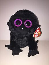 """TY GEORGE GORILLA-GEORGE OF THE JUNGLE 6"""" BEANIE BOOS-NEW, MINT TAG *IN HAND*"""
