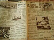 Les Meuniers qui ne dorment pas Corbeil fabrique de Farine Doc/Clipping 1955