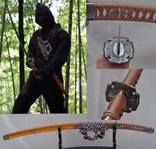 Japanese Sword Ninja Sect Shrine Samurai Katana Carbon Steel Sharp Blade#0116
