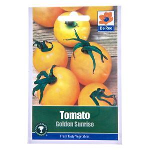 Tomato GOLDEN SUNRISE Seeds – Pictorial Packet – Easy To Grow – Free Postage