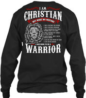 Brand New! Christian Warrior - Christain I Am But Gildan Long Sleeve Tee T-Shirt