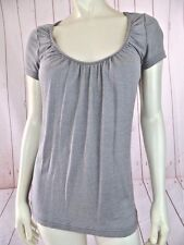 Michael Stars Top One Size (M) Silver Gray Sparkle Cotton Nylon Stretch Comfy