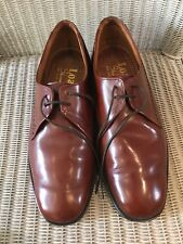 Loake Men's Brown Leather Shoes RICHMOND Size UK 7.5 Fit EEE Made in England.