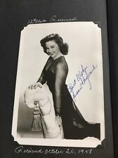 SUSAN HAYWARD - RARE VINTAGE SIGNED 8X10 PHOTO Estate Find!