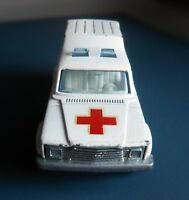 Vintage MAJORETTE Ambulance. Model 269. Diecast Metal. 1:64. Back Doors Open.