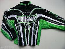 """New Wulfsport Sz Xl 44"""" Enduro Trials Motocross Jacket Green Kx Klx Klf Kdx Kxf"""