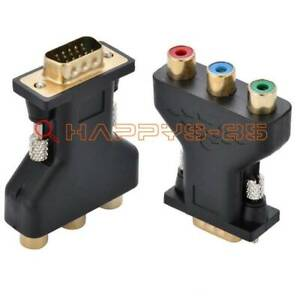 ONE RCA Component YUV YPbPr Video To VGA Style D-sub HD 15-Pin Video Adapter