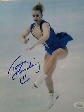 New listing Tonya Harding signed 8x10 Triple Axle photo Nancy Kerrigan JSA coa