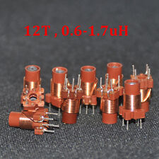 10pcs adjustable high-frequency ferrite core inductor 12T 0.6-1.7uh New Branded