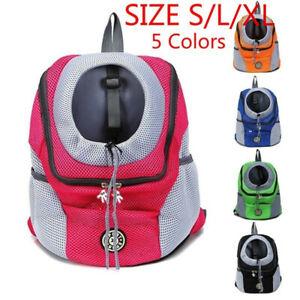 Pet Dog Carrier Puppy Outdoor Mesh Backpack  Front Travel Portable Shoulder Bag