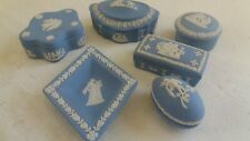 6 pieces of Wedgwood Jasper Ware , Boxes   , ref 58B