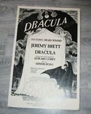 DRACULA on Broadway Poster  14 x 22  1979?  Jeremy Brett