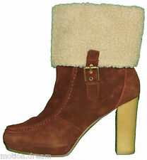 """ROCKPORT Women's COURTLYN FUR LOW BOOTSize 9.5 """"Brand New""""RRP$220.00"""