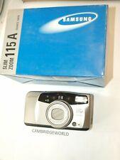 Samsung slim camera 115A NEW Panorama AF 38-115mm macro zoom lens Quartz date