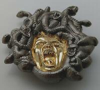 Medusa Gold Silver Coin Medal Greece Legend Woman Myth Story Goddess Horror Film
