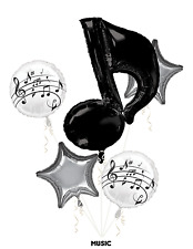 MUSIC NOTES Balloon bouquet 5 Foil, Anagram