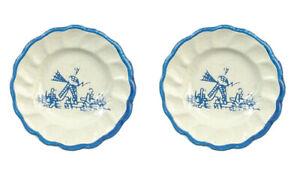 Dolls house miniatures  Set of 2 Delft plates