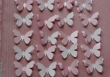 24  3D 2 TONE PINK BUTTERFLIES WEDDING BABY SHOWER CHRISTENING TABLE DECORATION