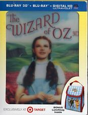The Wizard of Oz  Blu-ray 3D 2D  with Bonus Lunchbag Lenticular Cover  BRAND NEW