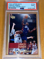 POP 1!🔥💎2007 LeBron James UPPER DECK ELECTRIC COURT GOLD #192 PSA 9 BGS lakers