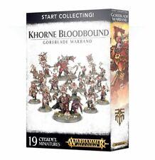 Khorne Bloodbound Goreblade Warband Start Collecting AOS damaged