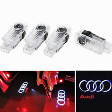 4 Pcs LED Logo Light Shadow Projector Car Door Courtesy Laser Audi A4 A6 A8 Q7