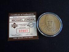 Michael Jordan Upper Deck Highland Mint Bronze Collectible Coin Box & COA #3983