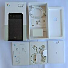 Genuine GOOGLE PIXEL 3 box with accessories. Just Black. No Phone