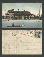1911 DOUGLAS PARK REFECTORY AND BOAT HOUSE CHICAGO ILL POSTCARD