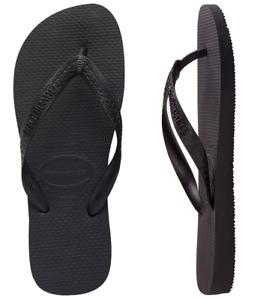 Havaianas Size 35-36 Top Black Thongs New Unisex Male Female
