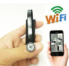 wireless WiFi IP Spy button model Nanny Mini Camera hidden DIY Micro DVR record
