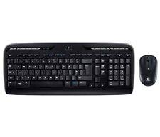 Logitech MK330 Wireless Combo Keyboard and Optical Mouse - USB, UK QWERTY Layout