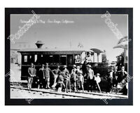 Historic National City & Otay - San Diego, California Train Postcard