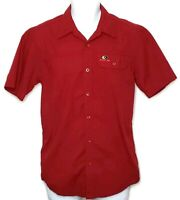 Mossy Oak Mens Size Small Red Polo Shirt Short Sleeve Checkered Breathable GUC
