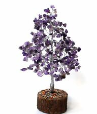 REIKI ENERGY CHARGED NATURAL AMETHYST GEMSTONE CHIP CRYSTALS TREE CHRISTMAS GIFT