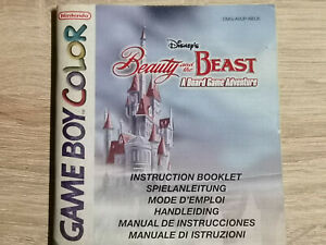Beauty And The Beast Game Boy Gameboy Color (Manual Only)
